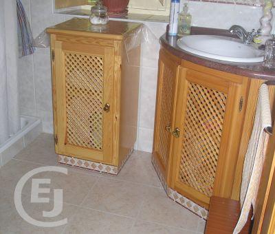 armario baño pino