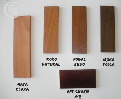 catalogo colores madera: