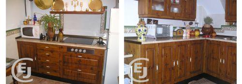 Carpinteria esther y jorge carpinteria de madera y pvc - Cocina rustica barata ...