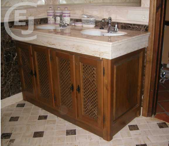 Mueble de baño rústico